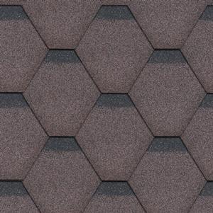 Technonicol rock Hexagonal w kolorze brązowym